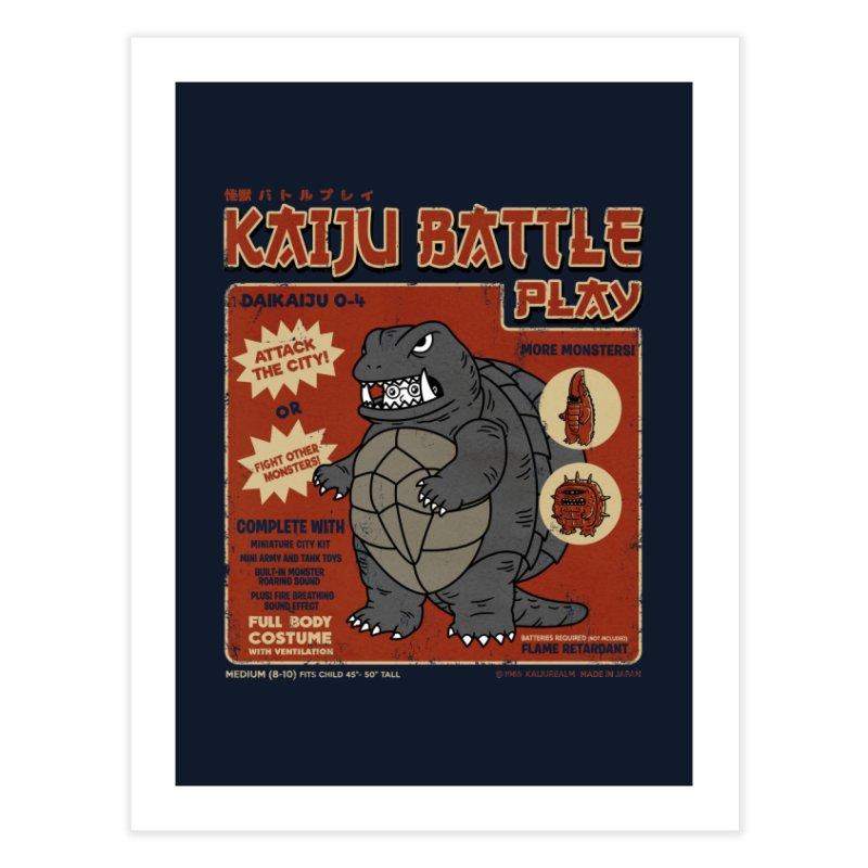 Kaiju Battle Player 04 Home Fine Art Print by Pigboom's Artist Shop