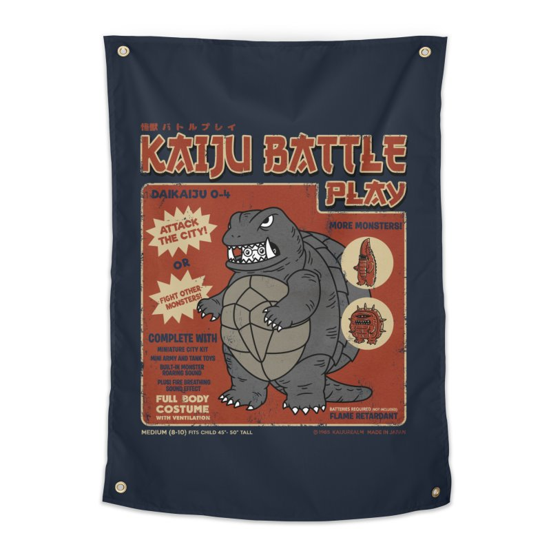 Kaiju Battle Player 04 Home Tapestry by Pigboom's Artist Shop