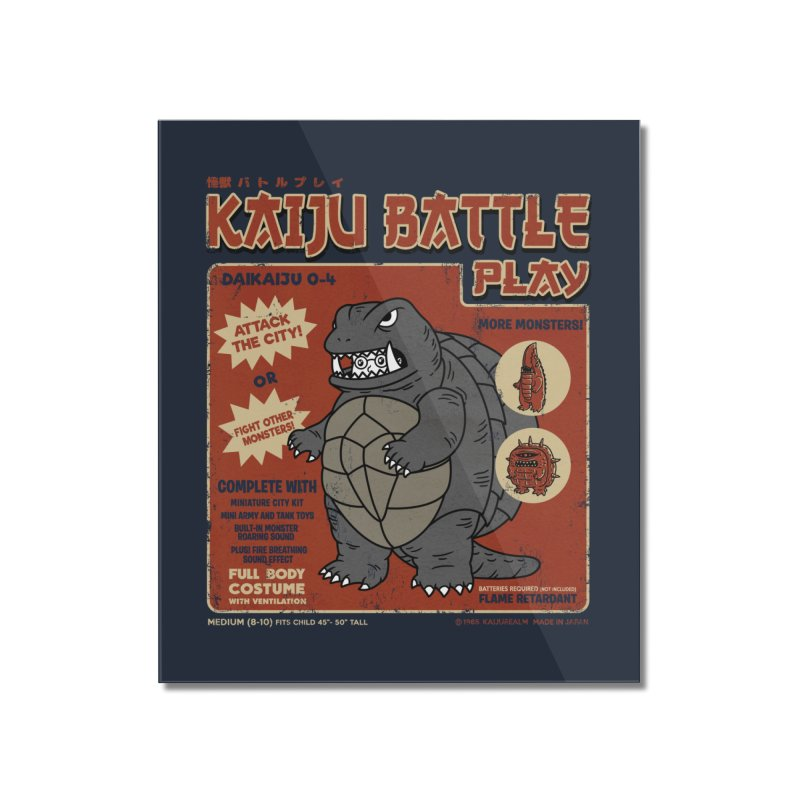 Kaiju Battle Player 04 Home Mounted Acrylic Print by Pigboom's Artist Shop