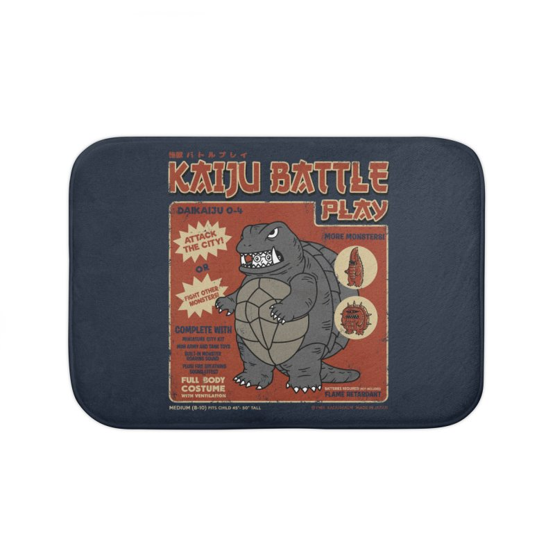Kaiju Battle Player 04 Home Bath Mat by Pigboom's Artist Shop