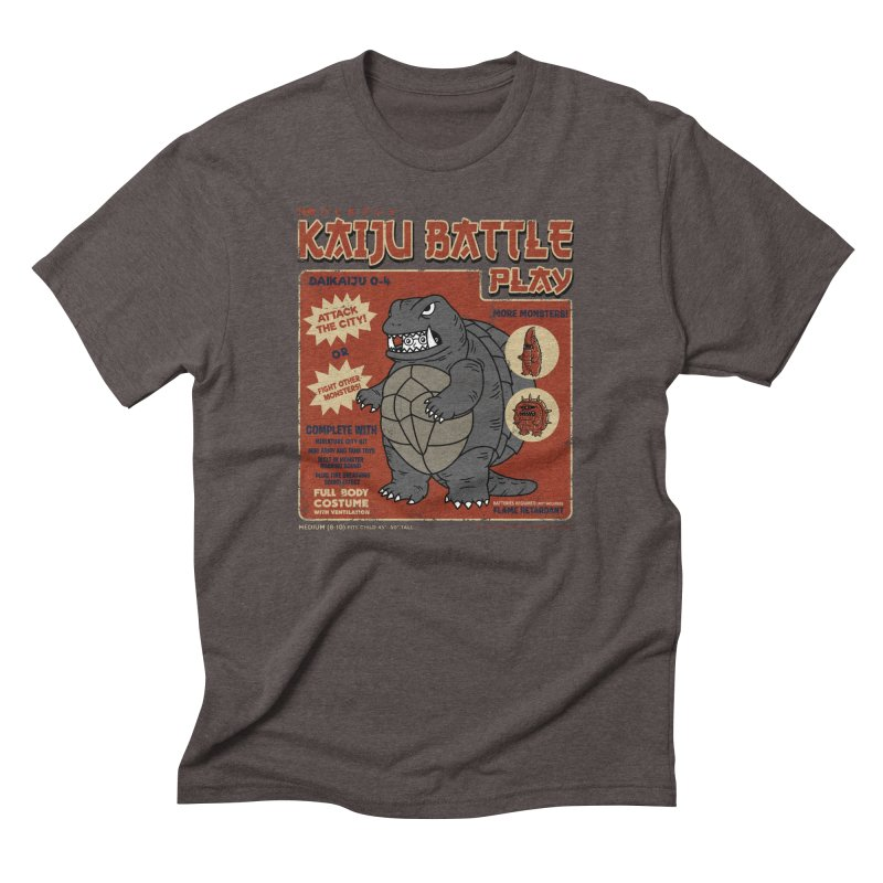 Kaiju Battle Player 04 Men's Triblend T-Shirt by Pigboom's Artist Shop