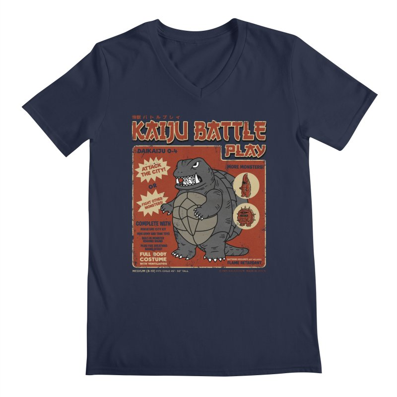 Kaiju Battle Player 04 Men's V-Neck by Pigboom's Artist Shop