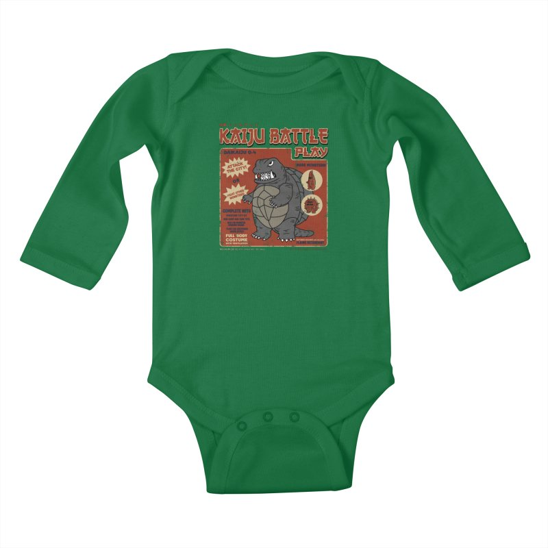 Kaiju Battle Player 04 Kids Baby Longsleeve Bodysuit by Pigboom's Artist Shop