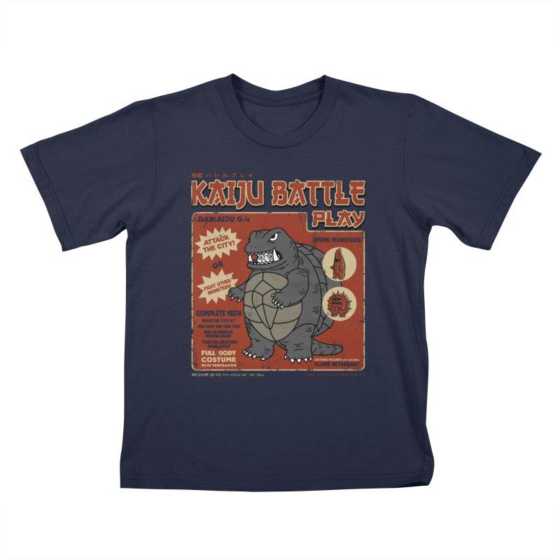 Kaiju Battle Player 04 Kids T-Shirt by Pigboom's Artist Shop