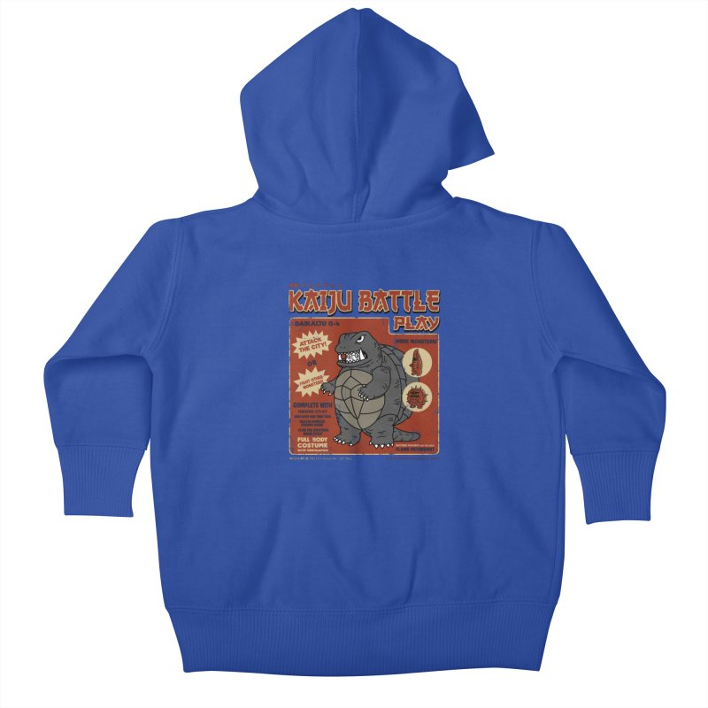 Kaiju Battle Player 04 Kids Baby Zip-Up Hoody by Pigboom's Artist Shop