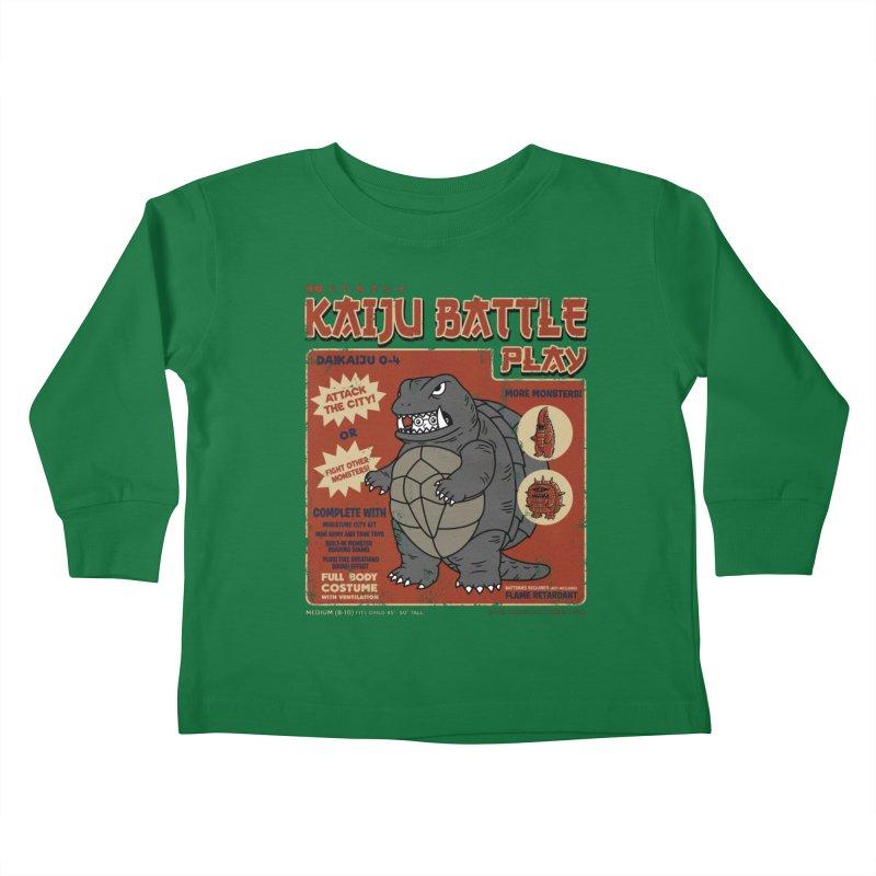 Kaiju Battle Player 04 Kids Toddler Longsleeve T-Shirt by Pigboom's Artist Shop