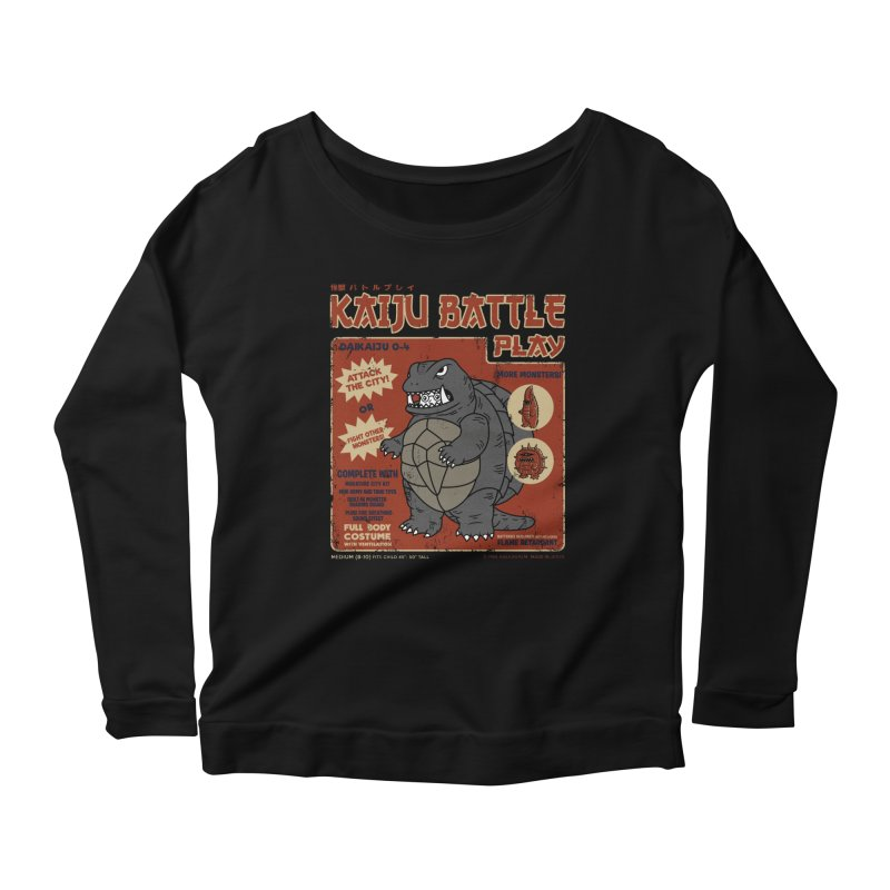 Kaiju Battle Player 04 Women's Longsleeve Scoopneck  by Pigboom's Artist Shop