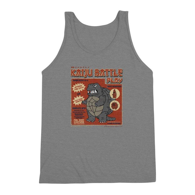 Kaiju Battle Player 04 Men's Triblend Tank by Pigboom's Artist Shop