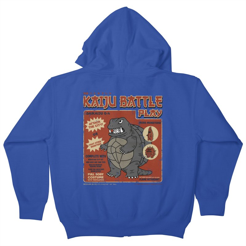 Kaiju Battle Player 04 Kids Zip-Up Hoody by Pigboom's Artist Shop