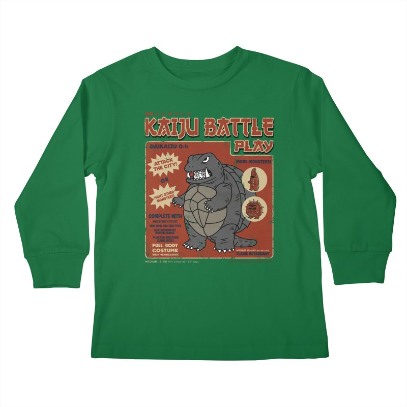 Kaiju Battle Player 04 Kids Longsleeve T-Shirt by Pigboom's Artist Shop