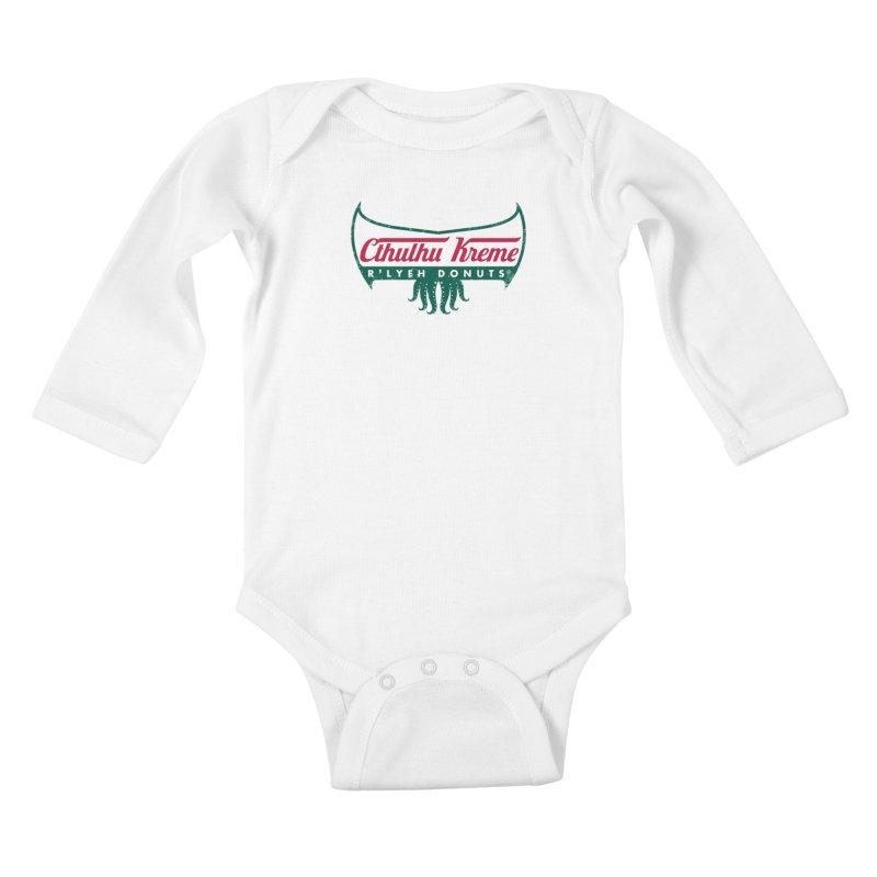 R'lyeh Donuts Kids Baby Longsleeve Bodysuit by Pigboom's Artist Shop