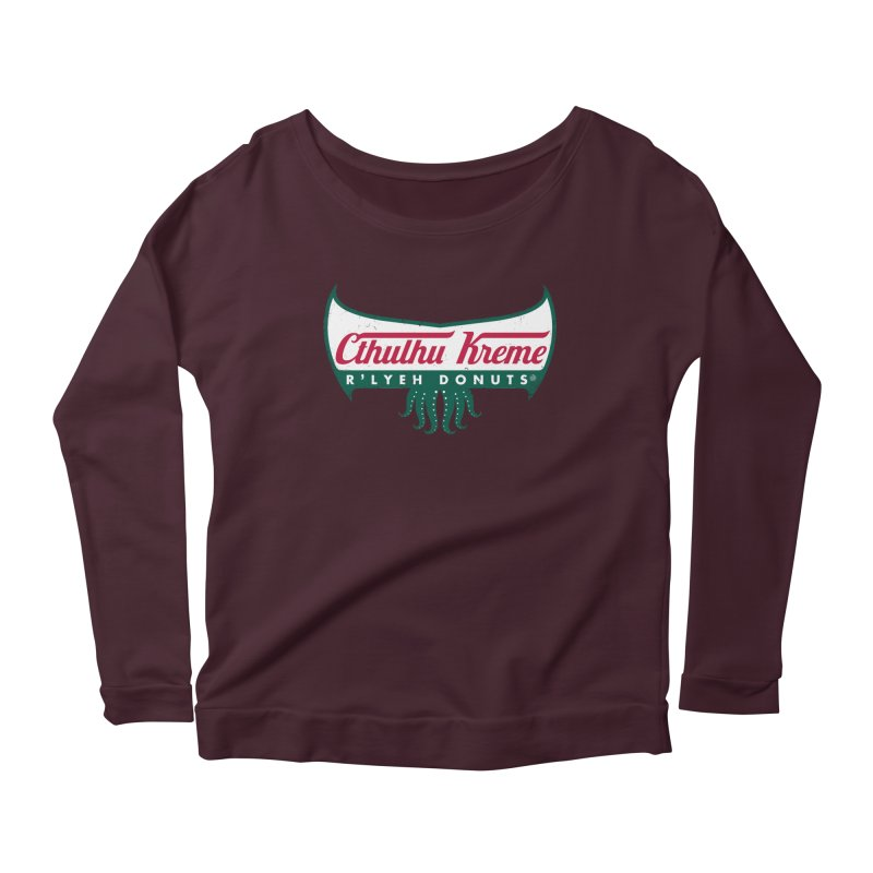 R'lyeh Donuts Women's Longsleeve Scoopneck  by Pigboom's Artist Shop