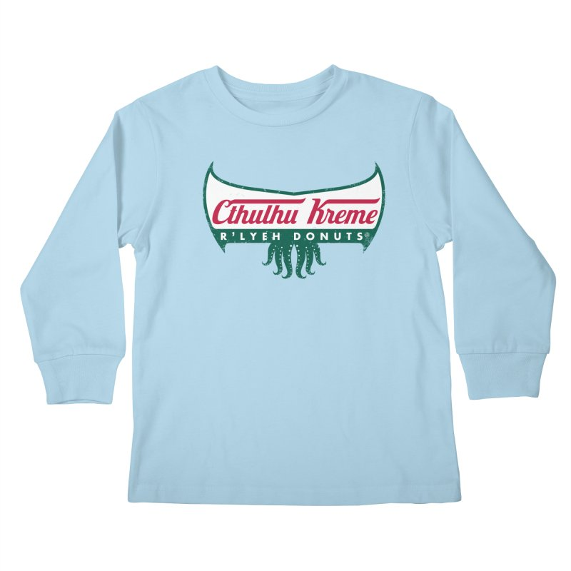 R'lyeh Donuts Kids Longsleeve T-Shirt by Pigboom's Artist Shop