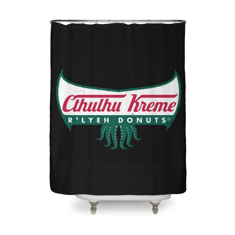 R'lyeh Donuts Home Shower Curtain by Pigboom's Artist Shop