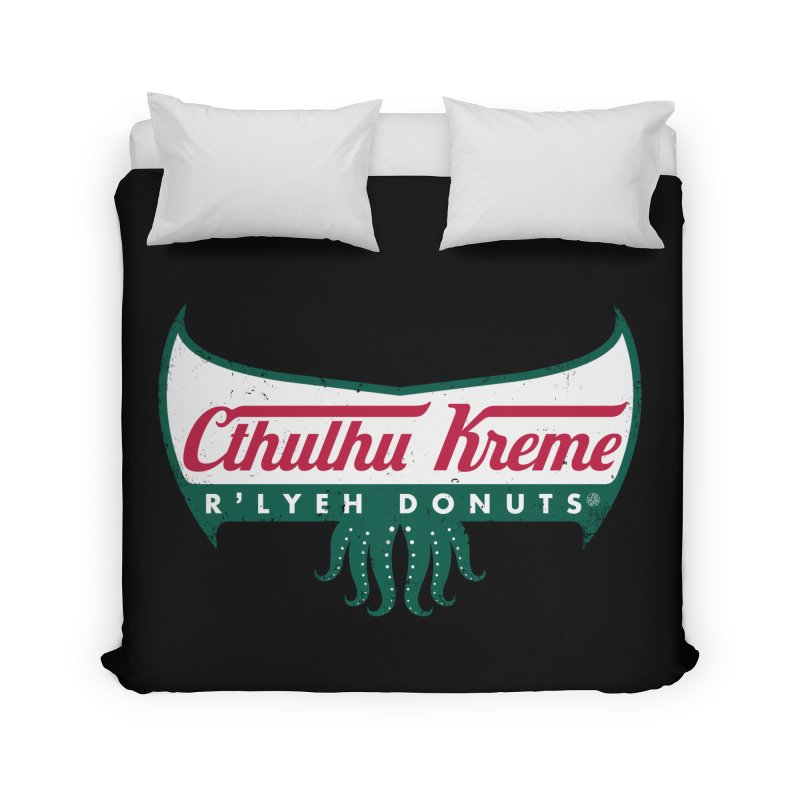 R'lyeh Donuts Home Duvet by Pigboom's Artist Shop