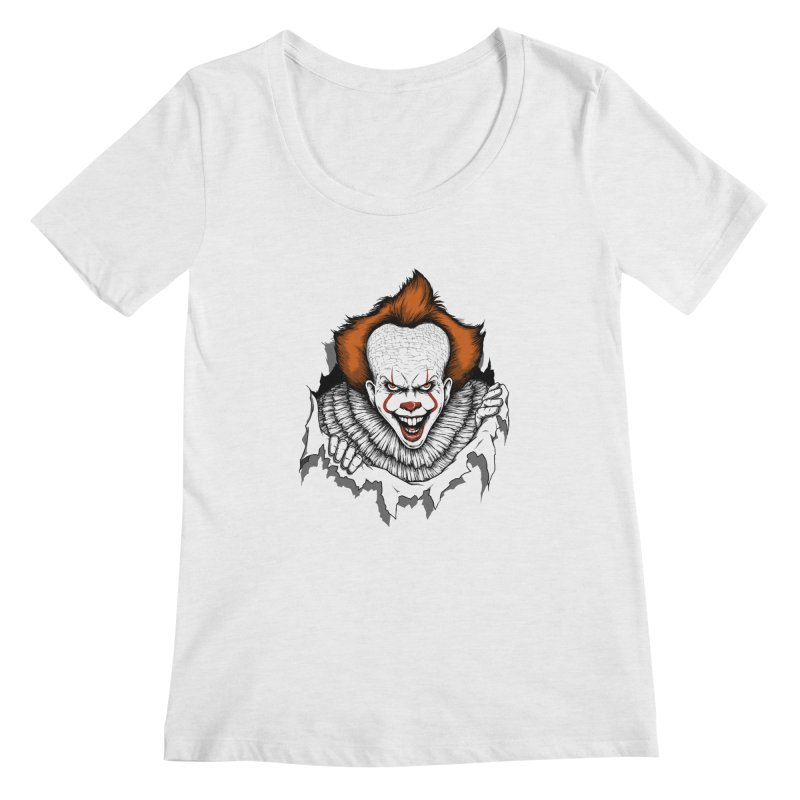 Let's Float Women's Scoopneck by Pigboom's Artist Shop