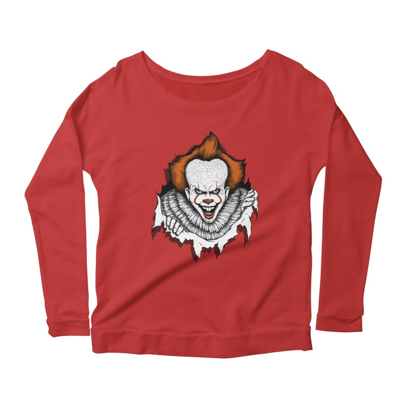 Let's Float Women's Longsleeve Scoopneck  by Pigboom's Artist Shop