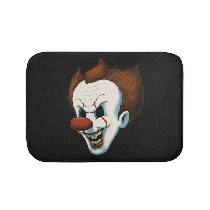 The Dancing Clown Home Bath Mat by Pigboom's Artist Shop