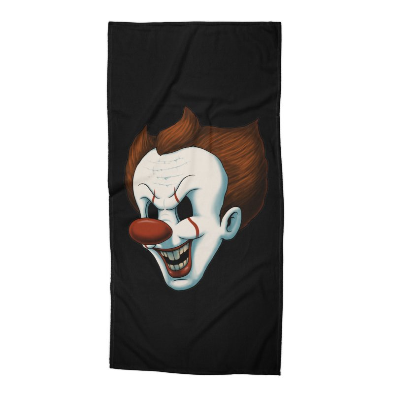 The Dancing Clown Accessories Beach Towel by Pigboom's Artist Shop