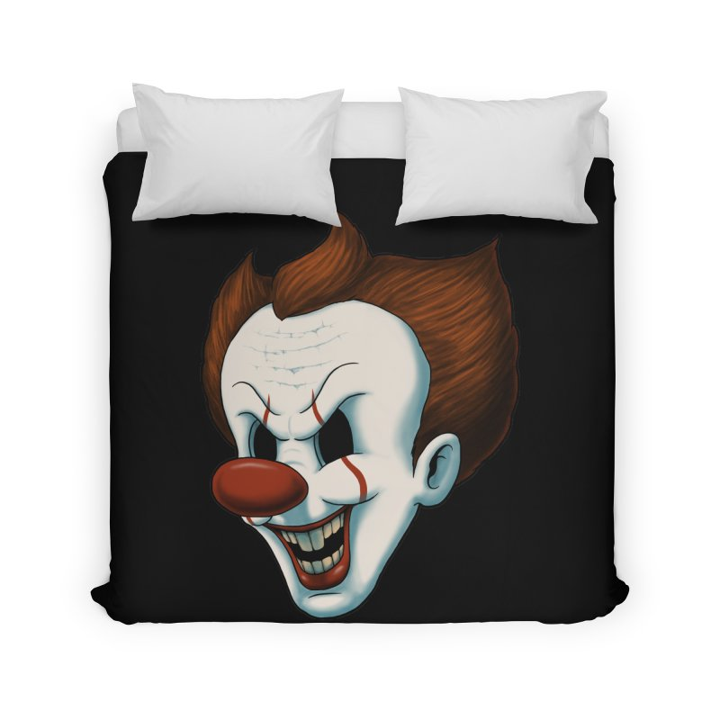 The Dancing Clown Home Duvet by Pigboom's Artist Shop
