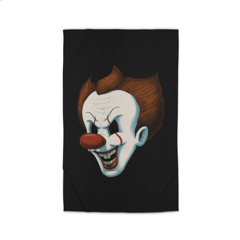 The Dancing Clown Home Rug by Pigboom's Artist Shop