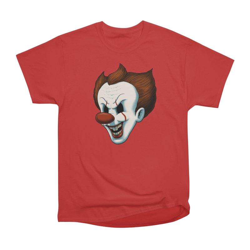 The Dancing Clown Men's Heavyweight T-Shirt by Pigboom's Artist Shop