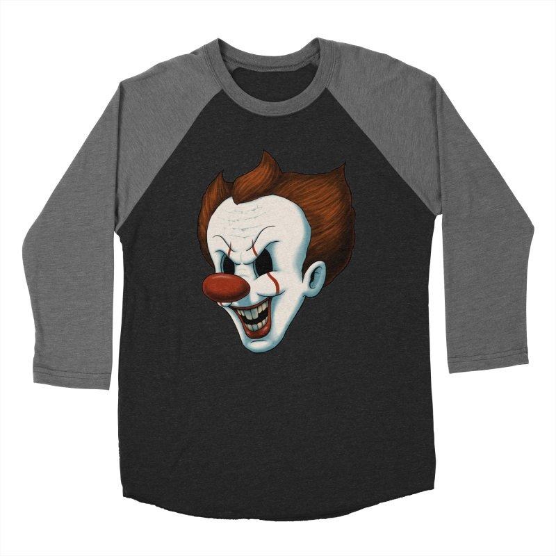 The Dancing Clown Women's Baseball Triblend T-Shirt by Pigboom's Artist Shop
