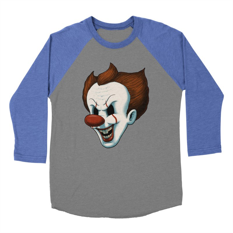 The Dancing Clown Men's Baseball Triblend T-Shirt by Pigboom's Artist Shop
