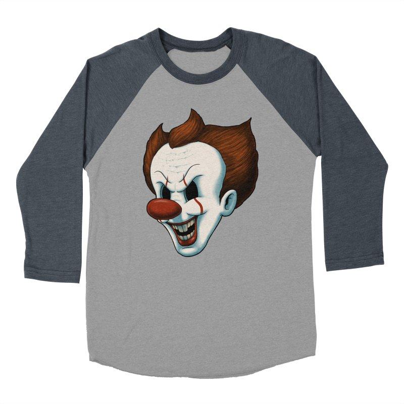 The Dancing Clown Men's Baseball Triblend T-Shirt by Pigboom's Artist Shop