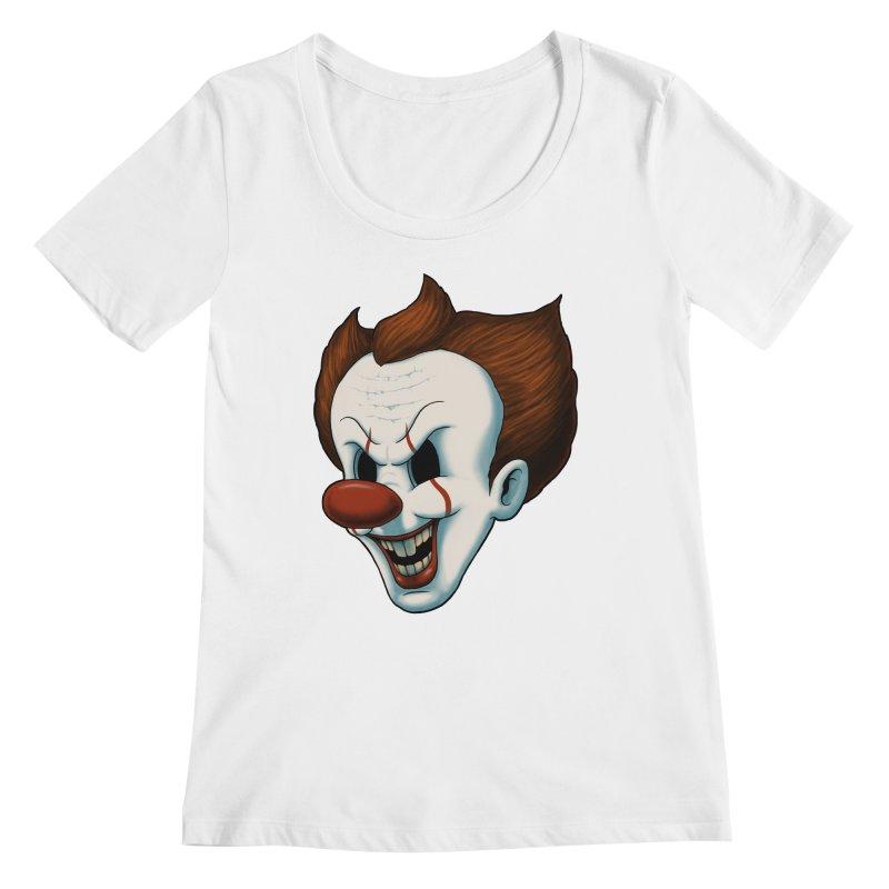 The Dancing Clown Women's Scoopneck by Pigboom's Artist Shop