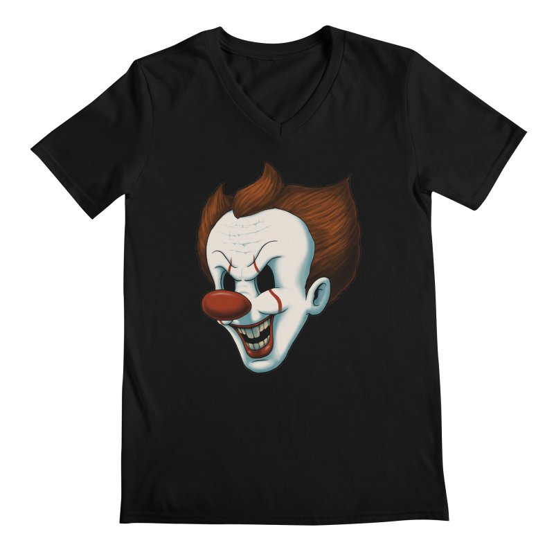 The Dancing Clown Men's V-Neck by Pigboom's Artist Shop