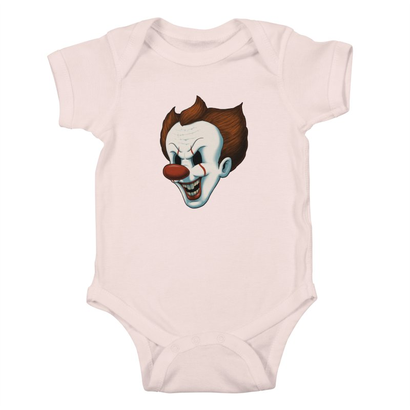 The Dancing Clown Kids Baby Bodysuit by Pigboom's Artist Shop