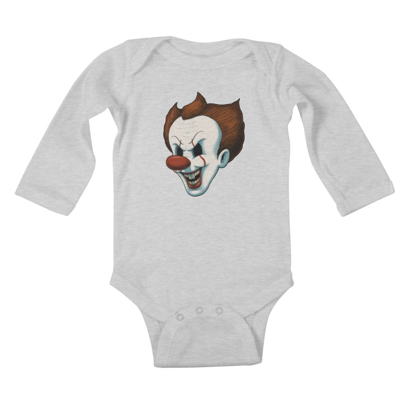 The Dancing Clown Kids Baby Longsleeve Bodysuit by Pigboom's Artist Shop