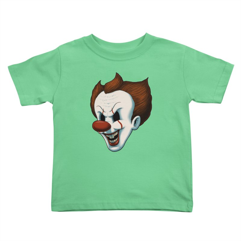 The Dancing Clown Kids Toddler T-Shirt by Pigboom's Artist Shop