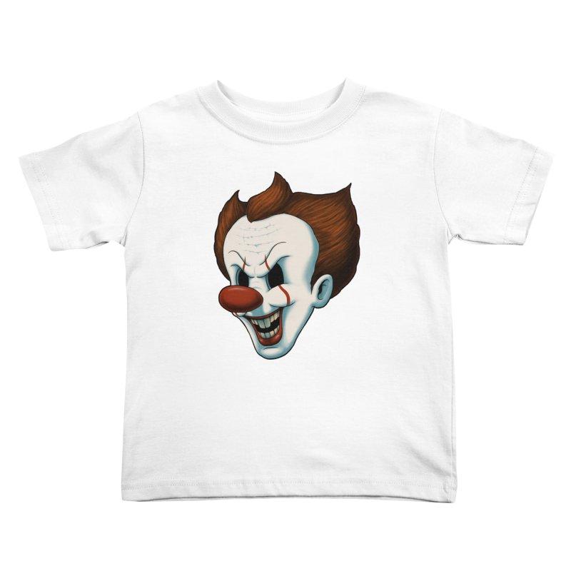 The Dancing Clown Kids Toddler T-Shirt by Pigboom's Artist Shop