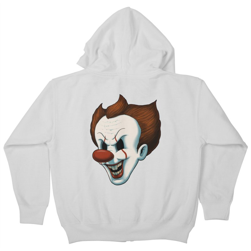 The Dancing Clown Kids Zip-Up Hoody by Pigboom's Artist Shop