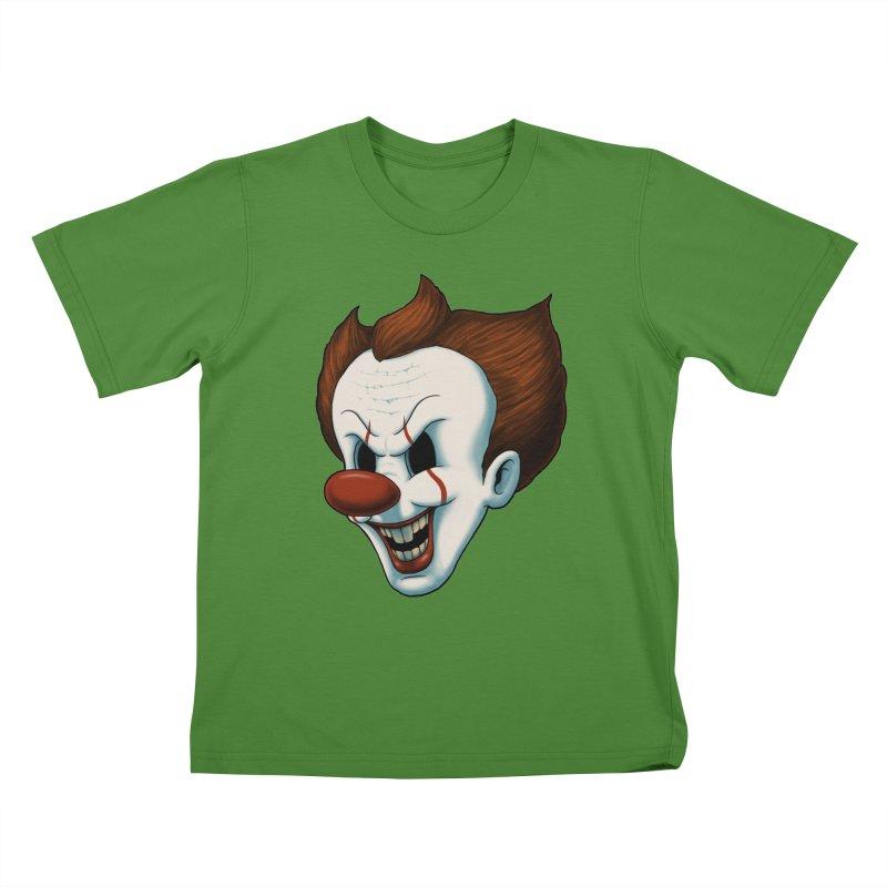 The Dancing Clown Kids T-Shirt by Pigboom's Artist Shop