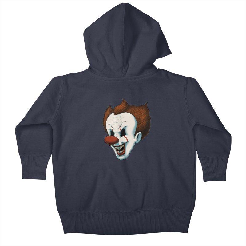 The Dancing Clown Kids Baby Zip-Up Hoody by Pigboom's Artist Shop