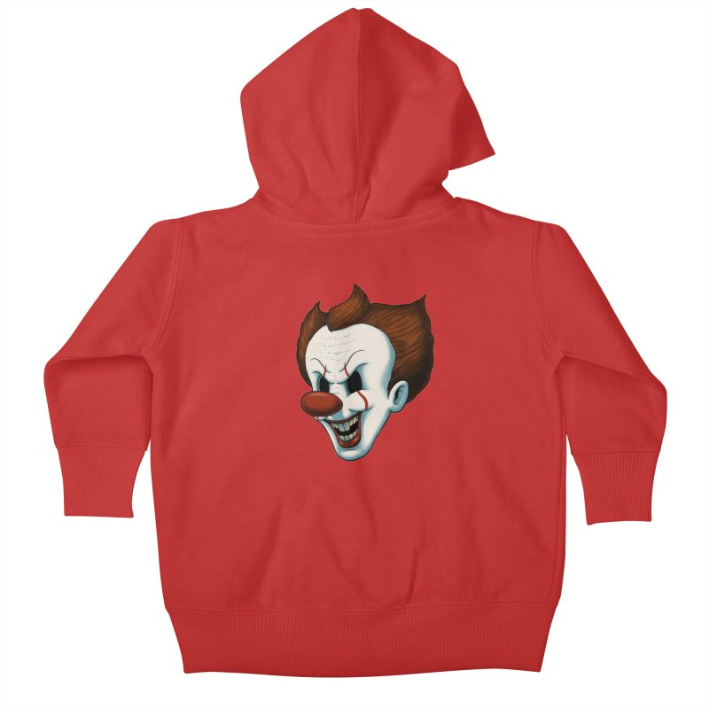 The Dancing Clown Kids Baby Zip-Up Hoody by Pigboom's Artist Shop