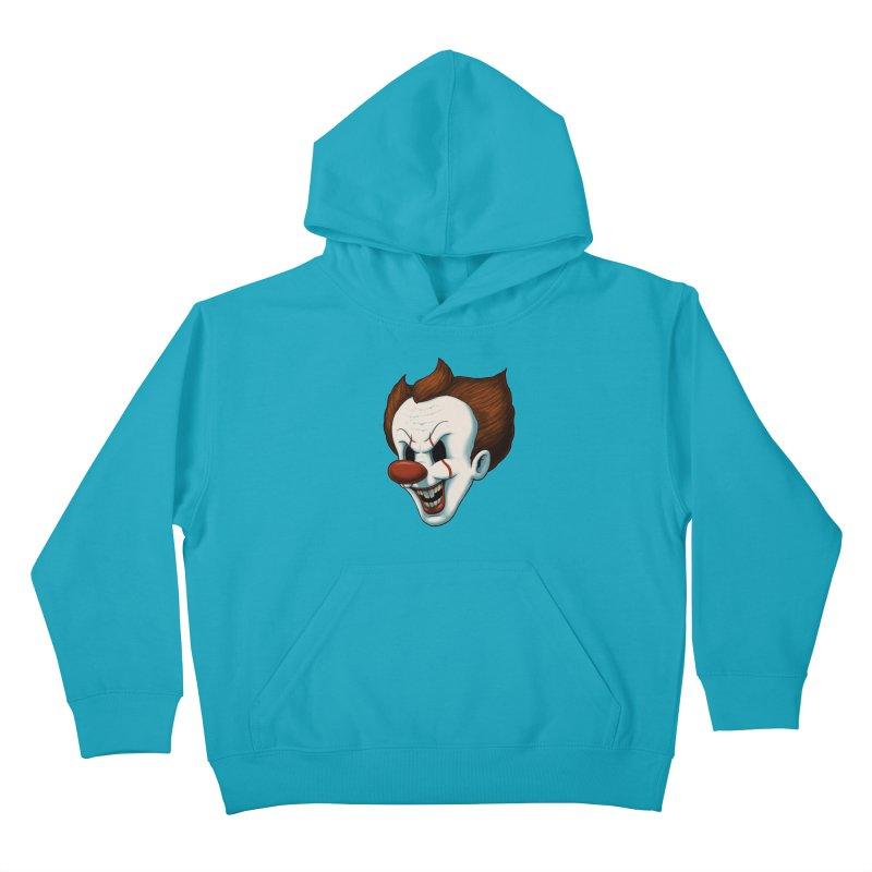 The Dancing Clown Kids Pullover Hoody by Pigboom's Artist Shop