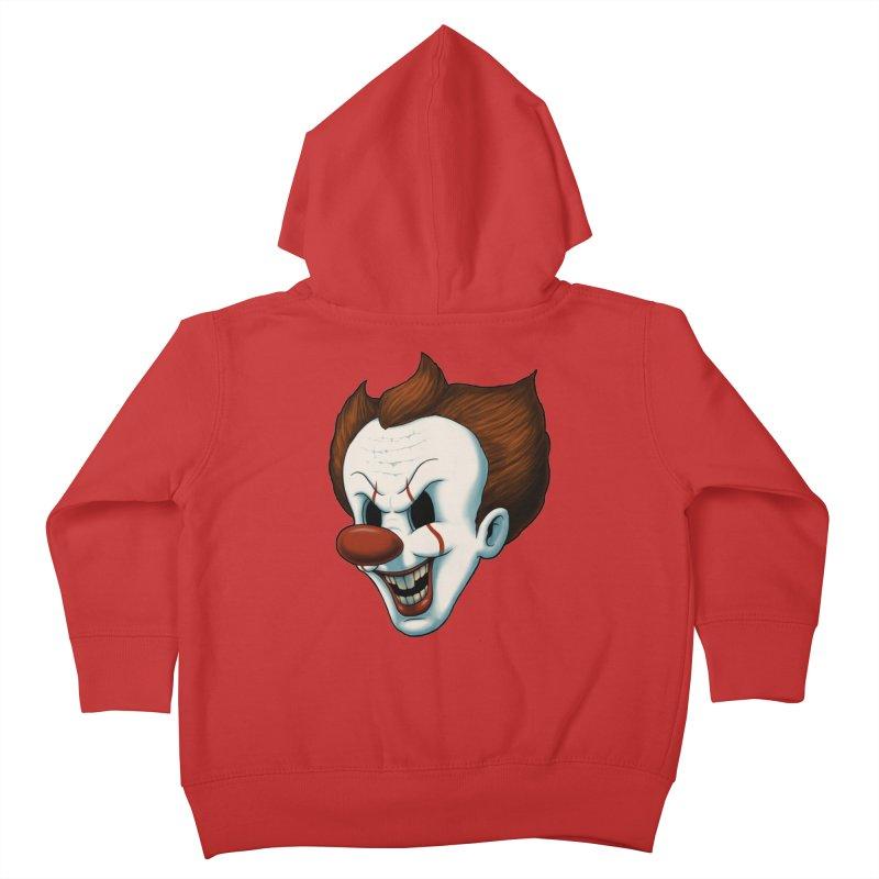 The Dancing Clown Kids Toddler Zip-Up Hoody by Pigboom's Artist Shop
