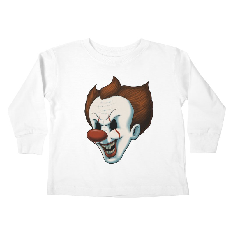 The Dancing Clown Kids Toddler Longsleeve T-Shirt by Pigboom's Artist Shop
