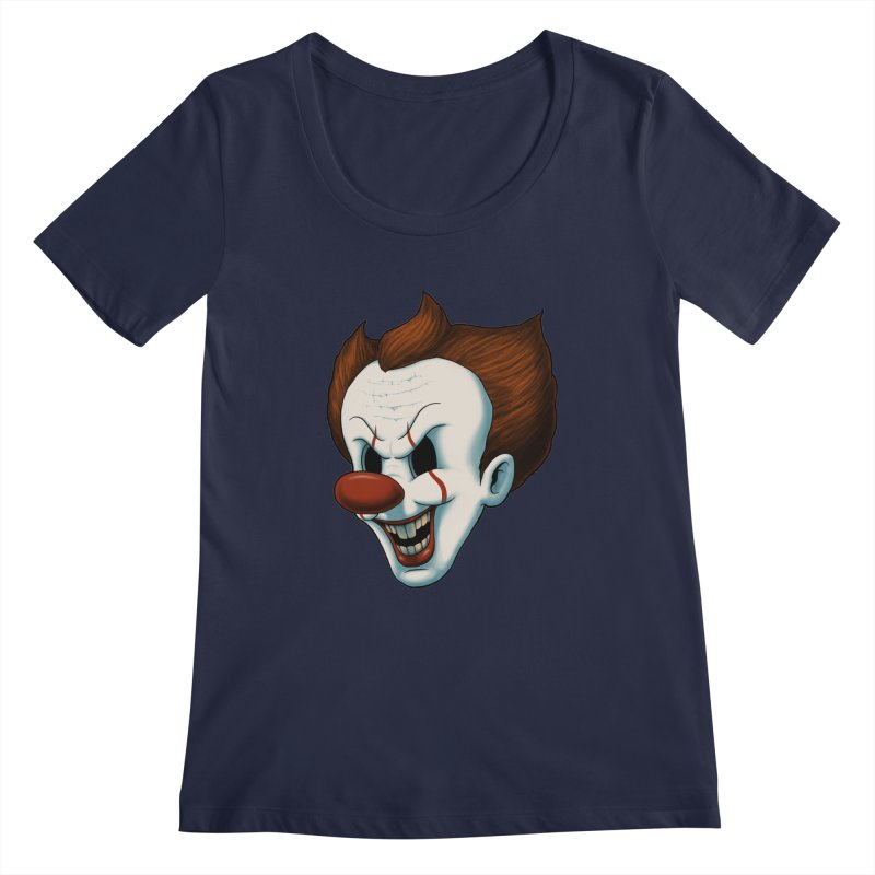 The Dancing Clown Women's Scoopneck by Pigboom's Artist Shop