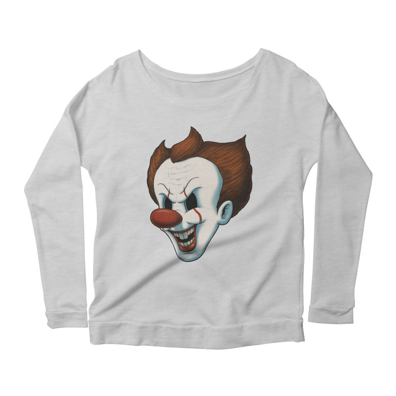 The Dancing Clown Women's Longsleeve Scoopneck  by Pigboom's Artist Shop