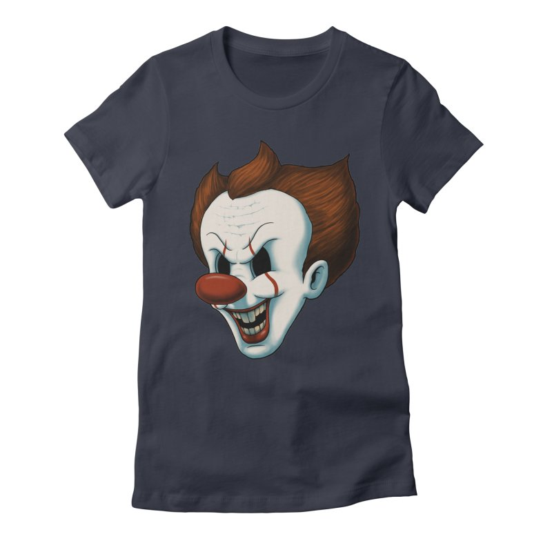The Dancing Clown Women's Fitted T-Shirt by Pigboom's Artist Shop