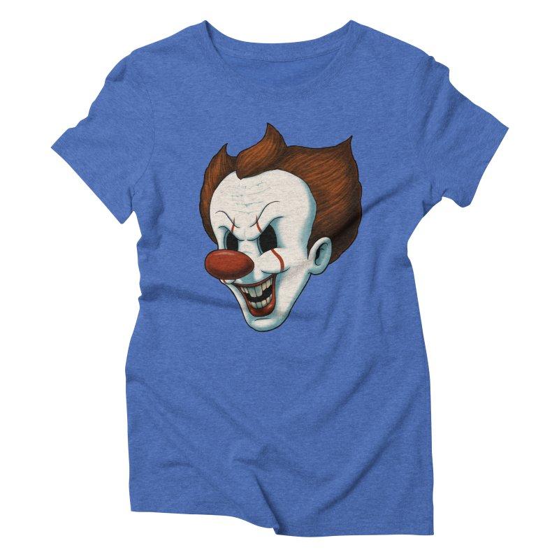 The Dancing Clown Women's Triblend T-Shirt by Pigboom's Artist Shop