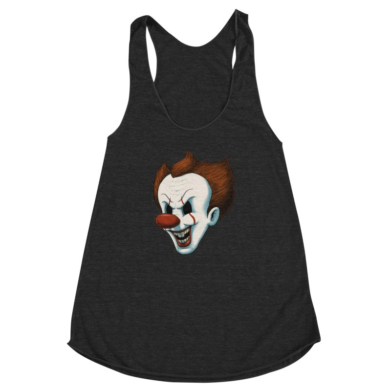 The Dancing Clown Women's Racerback Triblend Tank by Pigboom's Artist Shop