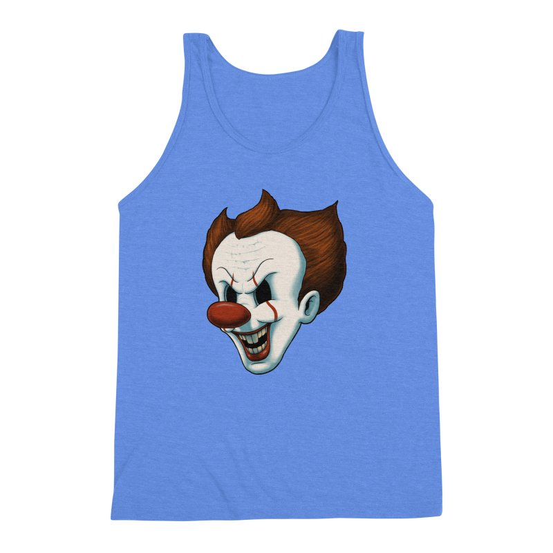 The Dancing Clown Men's Triblend Tank by Pigboom's Artist Shop