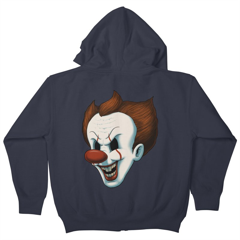 The Dancing Clown Kids Zip-Up Hoody by Pigboom's Artist Shop