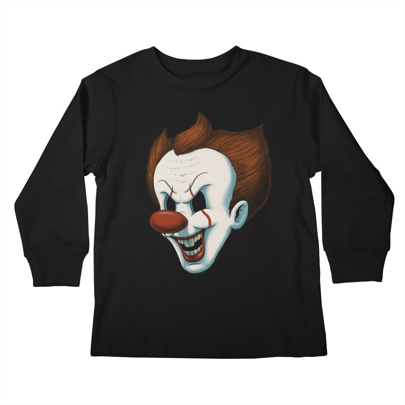 The Dancing Clown Kids Longsleeve T-Shirt by Pigboom's Artist Shop